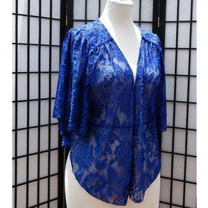 Sweaters - 1x-6x Stunning Blue lace Bolero style Car…